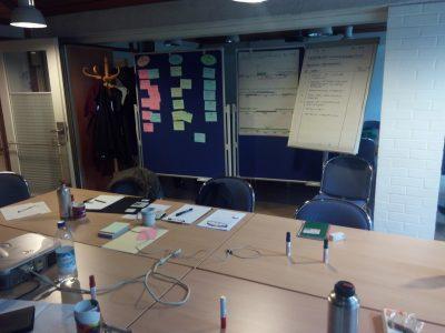 Seminarraum mit Flipcharts