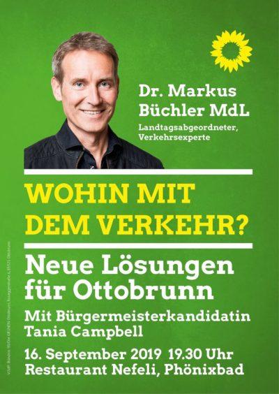 Plakat mit Markus Büchler