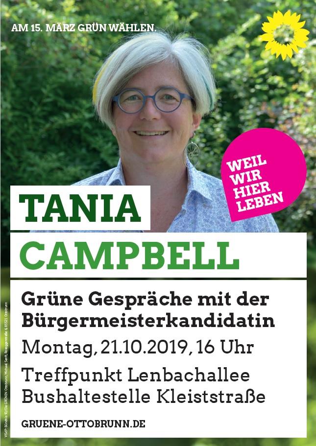 Plakat mit Tania Campbell