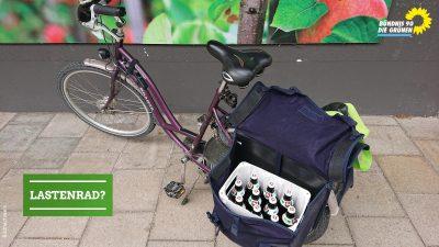 Fahrrad mit Satteltaschen